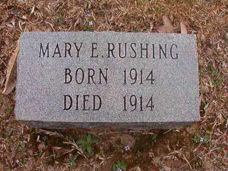 RUSHING, MARY E - Union County, Arkansas | MARY E RUSHING - Arkansas Gravestone Photos