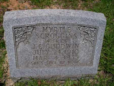 SCROGGINS GOODWIN, MYRTLE - Union County, Arkansas | MYRTLE SCROGGINS GOODWIN - Arkansas Gravestone Photos