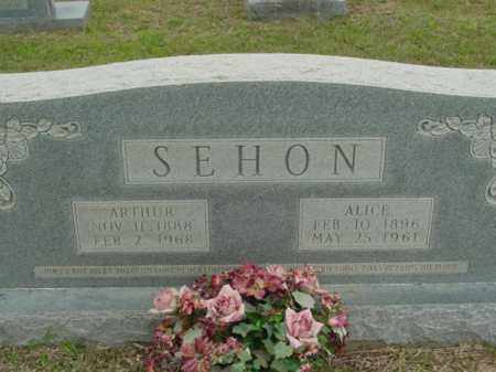 SEHON, ALICE - Union County, Arkansas | ALICE SEHON - Arkansas Gravestone Photos