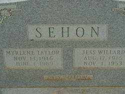 TAYLOR SEHON, MYRLENE - Union County, Arkansas | MYRLENE TAYLOR SEHON - Arkansas Gravestone Photos