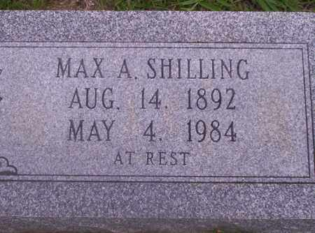 SHILLING, MAX A - Union County, Arkansas | MAX A SHILLING - Arkansas Gravestone Photos