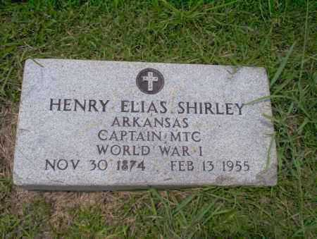 SHIRLEY (VETERAN WWI), HENRY ELIAS - Union County, Arkansas | HENRY ELIAS SHIRLEY (VETERAN WWI) - Arkansas Gravestone Photos