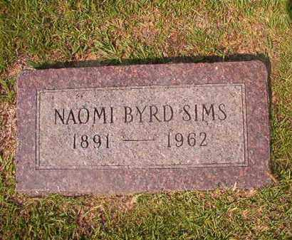 BYRD SIMS, NAOMI - Union County, Arkansas | NAOMI BYRD SIMS - Arkansas Gravestone Photos