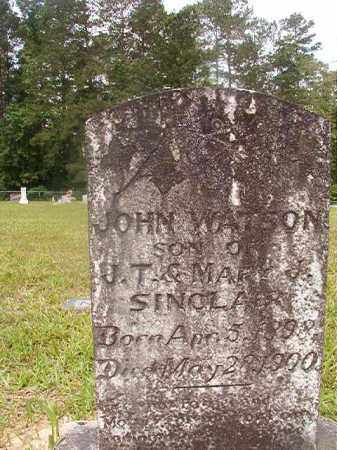 SINCLAIR, JOHN WATSON - Union County, Arkansas | JOHN WATSON SINCLAIR - Arkansas Gravestone Photos