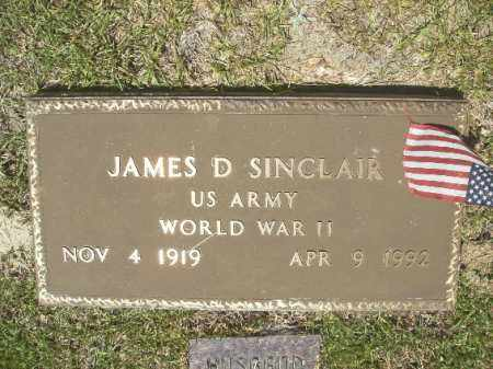SINCLAIR (VETERAN WWII), JAMES D - Union County, Arkansas | JAMES D SINCLAIR (VETERAN WWII) - Arkansas Gravestone Photos