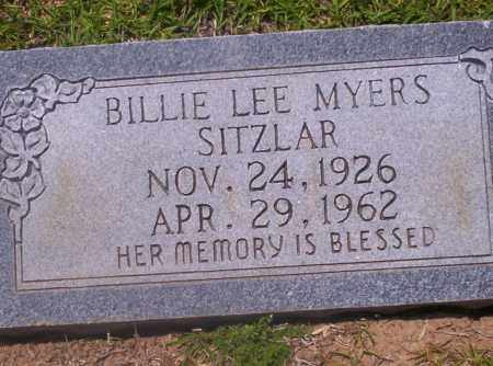 MYERS SITZLAR, BILLIE LEE - Union County, Arkansas | BILLIE LEE MYERS SITZLAR - Arkansas Gravestone Photos