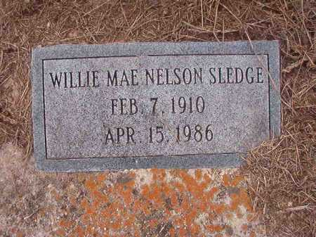 NELSON SLEDGE, WILLIE MAE - Union County, Arkansas | WILLIE MAE NELSON SLEDGE - Arkansas Gravestone Photos