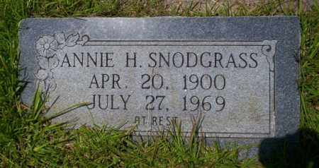 SNODGRASS, ANNIE H - Union County, Arkansas | ANNIE H SNODGRASS - Arkansas Gravestone Photos