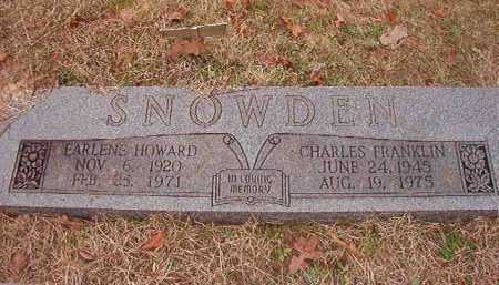 SNOWDEN, CHARLES FRANKLIN - Union County, Arkansas | CHARLES FRANKLIN SNOWDEN - Arkansas Gravestone Photos