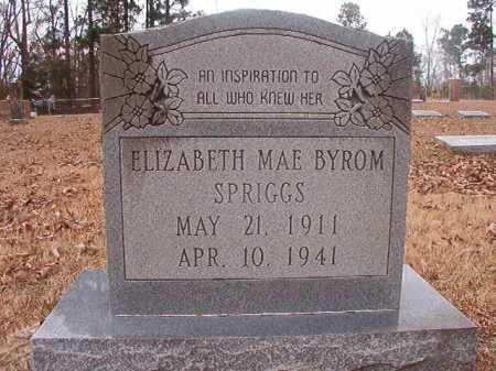 BYROM SPRIGGS, ELIZABETH MAE - Union County, Arkansas | ELIZABETH MAE BYROM SPRIGGS - Arkansas Gravestone Photos