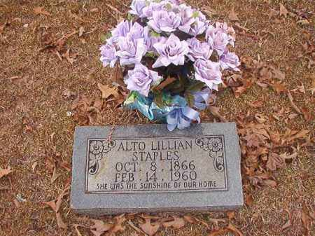 STAPLES, ALTO LILLIAN - Union County, Arkansas | ALTO LILLIAN STAPLES - Arkansas Gravestone Photos