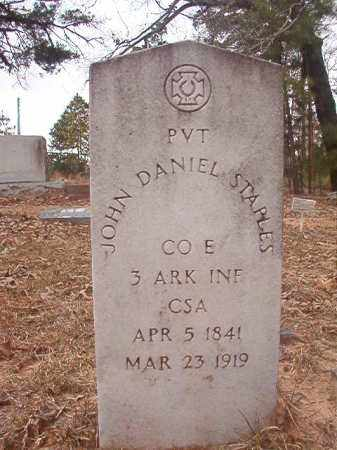 STAPLES (VETERAN CSA), JOHN DANIEL - Union County, Arkansas | JOHN DANIEL STAPLES (VETERAN CSA) - Arkansas Gravestone Photos