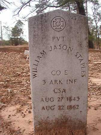 STAPLES (VETERAN CSA), WILLIAM JASON - Union County, Arkansas | WILLIAM JASON STAPLES (VETERAN CSA) - Arkansas Gravestone Photos
