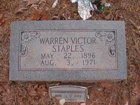 STAPLES, WARREN VICTOR - Union County, Arkansas | WARREN VICTOR STAPLES - Arkansas Gravestone Photos