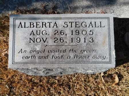 STEGALL, ALBERTA - Union County, Arkansas | ALBERTA STEGALL - Arkansas Gravestone Photos