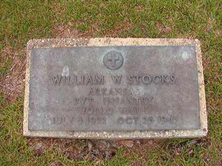 STOCKS (VETERAN WWII), WILLIAM W - Union County, Arkansas | WILLIAM W STOCKS (VETERAN WWII) - Arkansas Gravestone Photos
