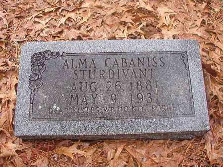 CABANISS STURDIVANT, ALMA - Union County, Arkansas | ALMA CABANISS STURDIVANT - Arkansas Gravestone Photos