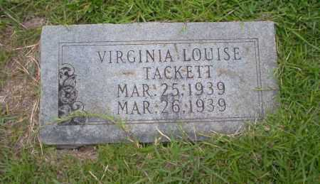 TACKETT, VIRGINIA LOUISE - Union County, Arkansas | VIRGINIA LOUISE TACKETT - Arkansas Gravestone Photos