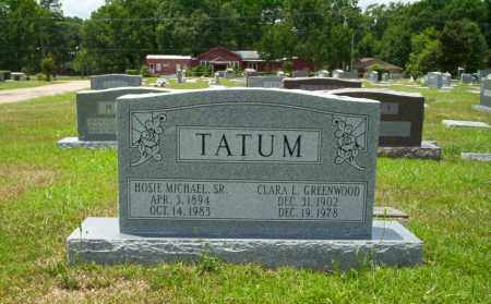 GREENWOOD TATUM, CLARA L - Union County, Arkansas | CLARA L GREENWOOD TATUM - Arkansas Gravestone Photos
