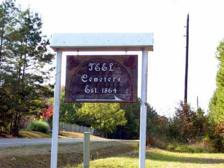 *TEEL CEMETERY SIGN, . - Union County, Arkansas | . *TEEL CEMETERY SIGN - Arkansas Gravestone Photos