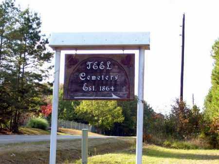 *TEEL CEMETERY SIGN, . - Union County, Arkansas | . *TEEL CEMETERY SIGN - Arkansas Gravestone Photos