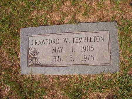 TEMPLETON, CRAWFORD W - Union County, Arkansas | CRAWFORD W TEMPLETON - Arkansas Gravestone Photos