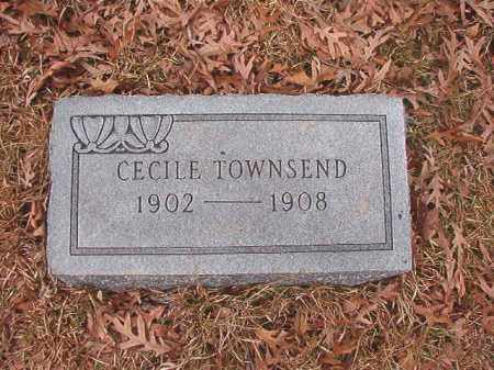 TOWNSEND, CECILE - Union County, Arkansas | CECILE TOWNSEND - Arkansas Gravestone Photos