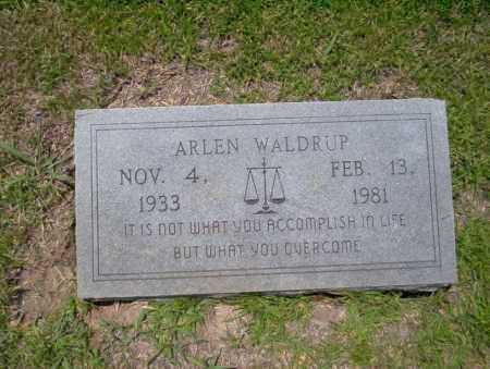 WALDRUP, ALLEN - Union County, Arkansas | ALLEN WALDRUP - Arkansas Gravestone Photos