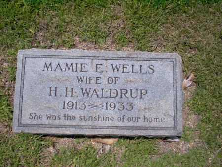 WELLS WALDRUP, MAMIE E - Union County, Arkansas | MAMIE E WELLS WALDRUP - Arkansas Gravestone Photos