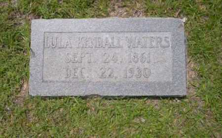 KENDALL WATERS, LULA - Union County, Arkansas | LULA KENDALL WATERS - Arkansas Gravestone Photos