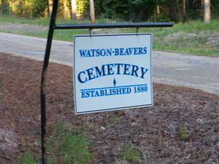 *WATSON-BEAVERS CEMETERY SIGN,  - Union County, Arkansas |  *WATSON-BEAVERS CEMETERY SIGN - Arkansas Gravestone Photos
