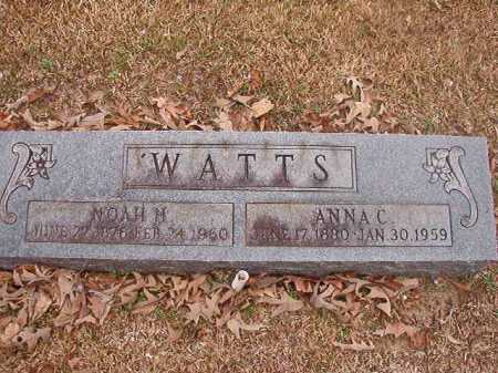 WATTS, ANNA C - Union County, Arkansas | ANNA C WATTS - Arkansas Gravestone Photos