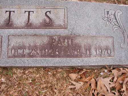 WATTS, PAUL - Union County, Arkansas | PAUL WATTS - Arkansas Gravestone Photos