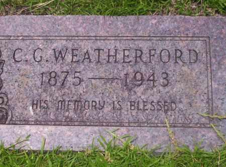 WEATHERFORD, C.G. - Union County, Arkansas   C.G. WEATHERFORD - Arkansas Gravestone Photos