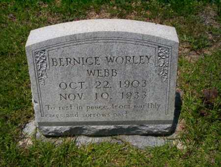 WORLEY WEBB, BERNICE - Union County, Arkansas | BERNICE WORLEY WEBB - Arkansas Gravestone Photos