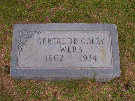 GOLEY WEBB, GERTRUDE - Union County, Arkansas | GERTRUDE GOLEY WEBB - Arkansas Gravestone Photos