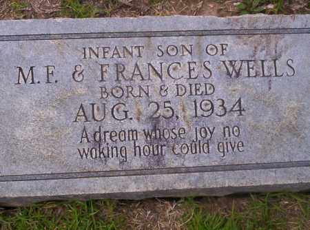 WELLS, INFANT SON - Union County, Arkansas | INFANT SON WELLS - Arkansas Gravestone Photos