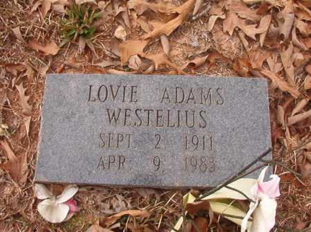 WESTELIUS, LOVIE - Union County, Arkansas | LOVIE WESTELIUS - Arkansas Gravestone Photos