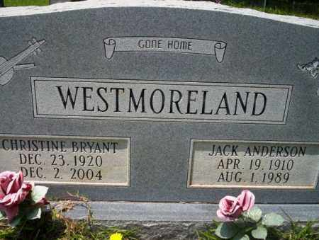 BRYANT WESTMORELAND, CHRISTINE - Union County, Arkansas | CHRISTINE BRYANT WESTMORELAND - Arkansas Gravestone Photos