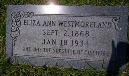 WESTMORELAND, ELIZA ANN - Union County, Arkansas | ELIZA ANN WESTMORELAND - Arkansas Gravestone Photos
