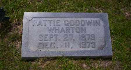 GOODWIN WHARTON, PATTIE - Union County, Arkansas | PATTIE GOODWIN WHARTON - Arkansas Gravestone Photos