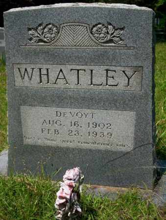 WHATLEY, DE VOYT - Union County, Arkansas | DE VOYT WHATLEY - Arkansas Gravestone Photos