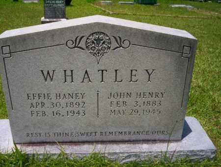 WHATLEY, JOHN HENRY - Union County, Arkansas | JOHN HENRY WHATLEY - Arkansas Gravestone Photos