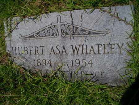 WHATLEY, HUBERT ASA - Union County, Arkansas | HUBERT ASA WHATLEY - Arkansas Gravestone Photos