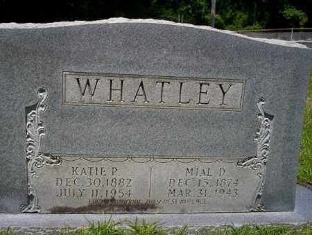 WHATLEY, KATIE P - Union County, Arkansas | KATIE P WHATLEY - Arkansas Gravestone Photos