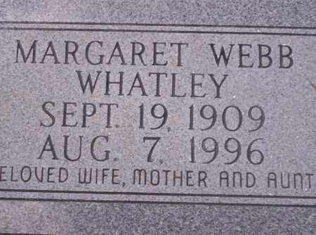 WEBB WHATLEY, MARGARET - Union County, Arkansas | MARGARET WEBB WHATLEY - Arkansas Gravestone Photos