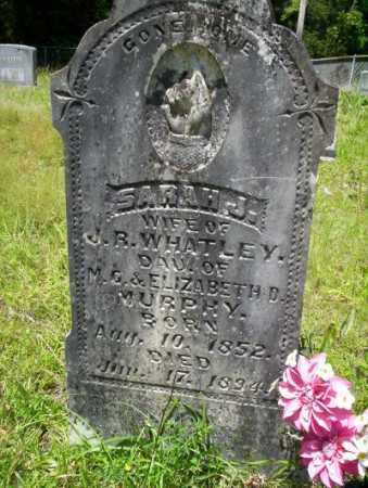 MURPHY WHATLEY, SARAH J - Union County, Arkansas | SARAH J MURPHY WHATLEY - Arkansas Gravestone Photos