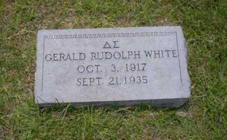 WHITE, GERALD RUDOLPH - Union County, Arkansas | GERALD RUDOLPH WHITE - Arkansas Gravestone Photos