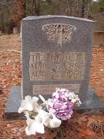WHITE, JR, TICE - Union County, Arkansas | TICE WHITE, JR - Arkansas Gravestone Photos