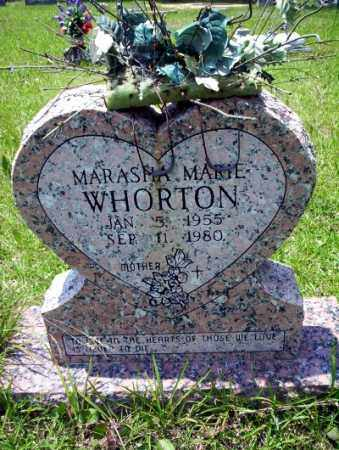 WHORTON, MARASHA MARIE - Union County, Arkansas | MARASHA MARIE WHORTON - Arkansas Gravestone Photos